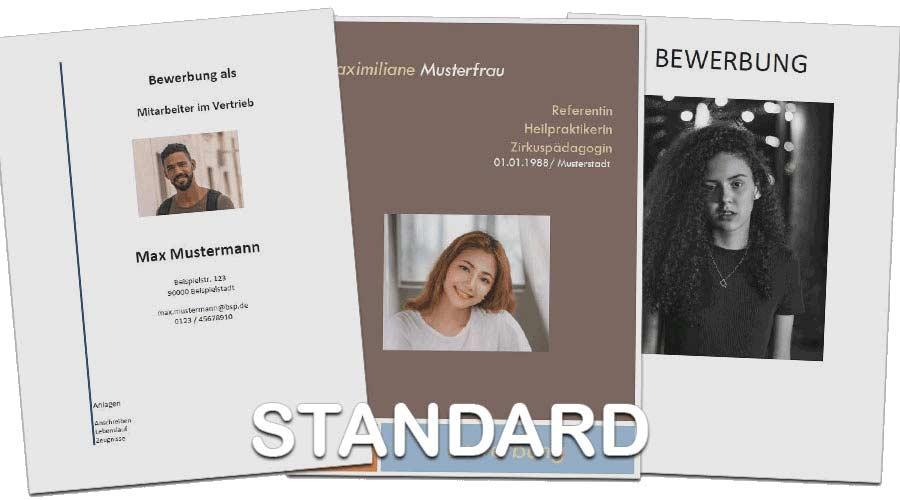 Beispiele für Standardanschreiben - Bewerbercoaching und Erstellung von Bewerbungen Angebote Marketingwelt Lipp