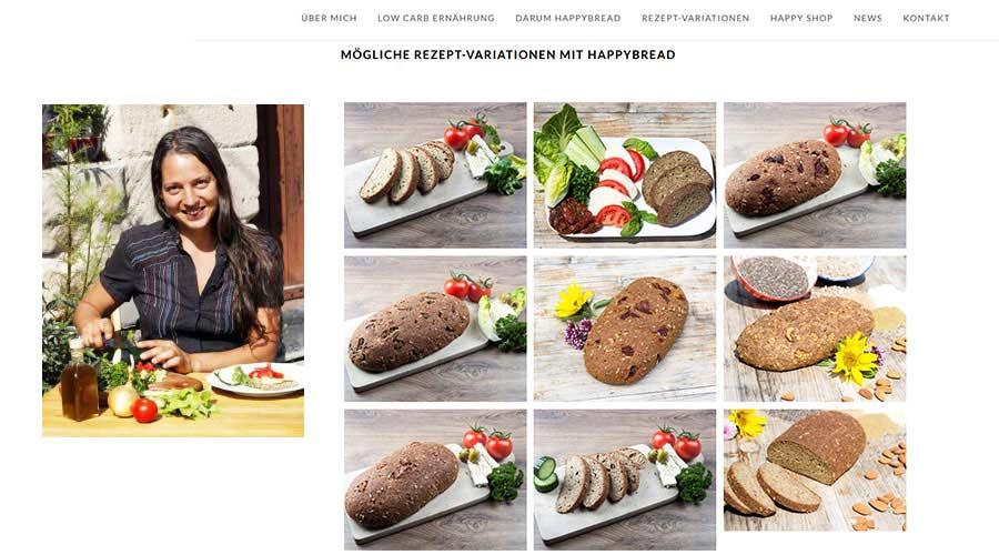 Marketing Angebote für Bäckerhandwerk Referenz Webdesign Low-Carb Happybread