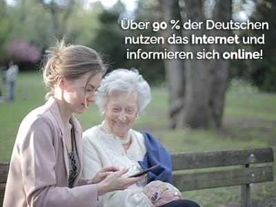 Rehasport Marketing Deutsche informieren sich im Internet