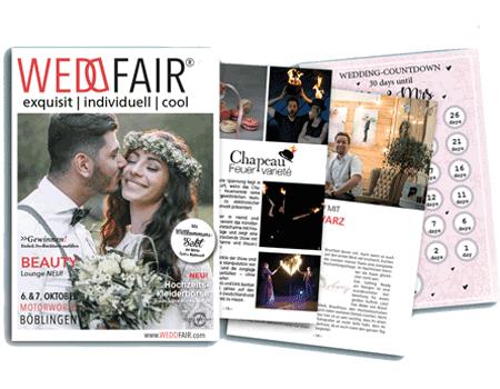 Spezialisierte Grafikdesign Angebote - Grafiker für Hochzeitsmode buchen - Referenz Broschüre