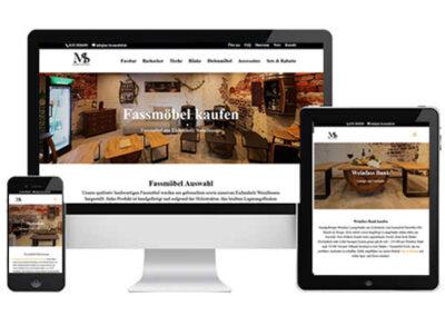 Internetagentur Marketingwelt Lipp Webdesign Referenzen MS-Barrels und Design Fassmöbel